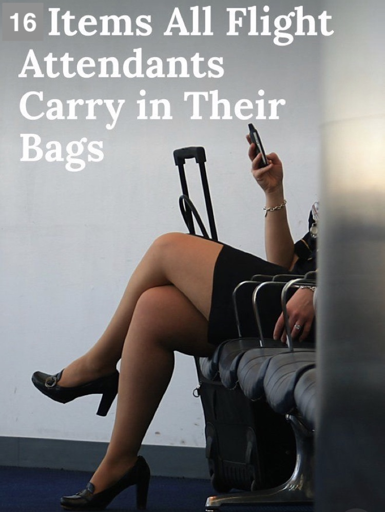 9 Items All Air Hostess Carry in their bags